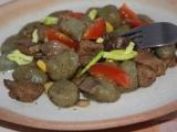 Špenátové gnocchi s hlívou a masem recept