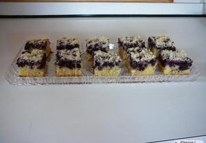 Borůvkový koláč s drobenkou