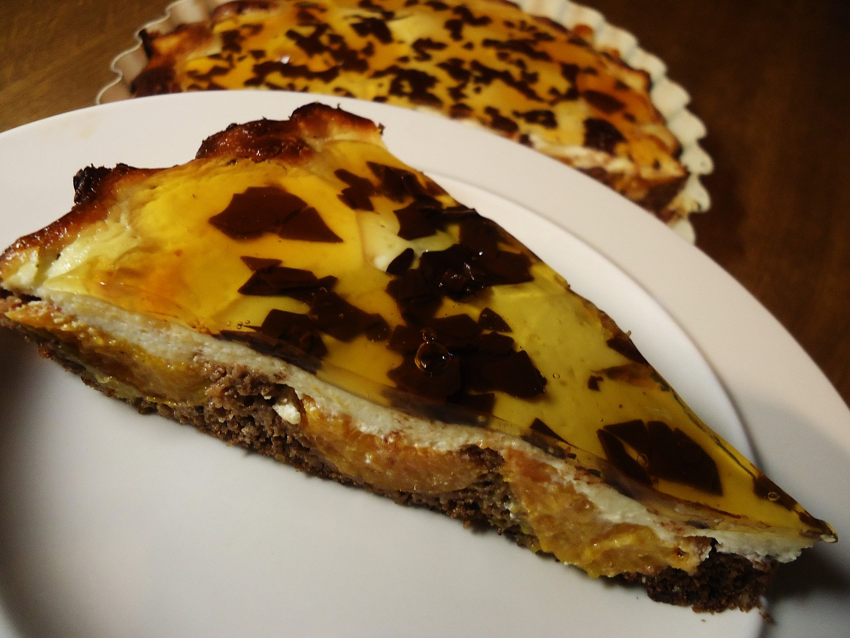Meruňkový koláč s čokoládou recept