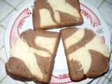 Dvojbarevný sladký bochník recept