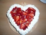Jahodový dort se šlehačkou recept