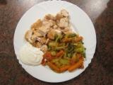 Kuřecí prsa se zeleninovou přílohou recept
