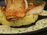 Candát na másle s pažitkovou omáčkou recept