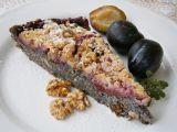 Cuketový koláč s mákem a švestkami recept