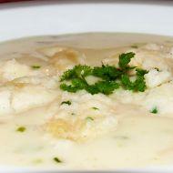 Smetanová česneková polévka recept