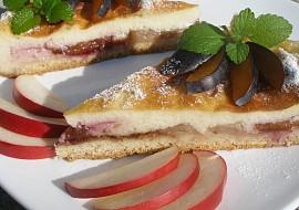 Krupicový švestkovo- jablečný koláč recept