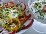 Zeleninový salát se smetanou a řeřichou. recept