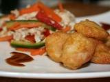 Salát se smaženým kuřecím masem recept