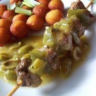 Masové špízy v olivové omáčce recept