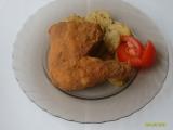 Smažené uzené kuřecí stehno recept