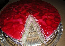 Jahodovo  smetanový dort recept