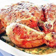 Pečené kuře se šalvějí a petrželkovou omáčkou recept