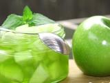 Zelené jablko s galaretkou a mátou recept