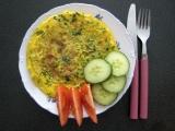 Omelety s hráškem a pažitkou recept