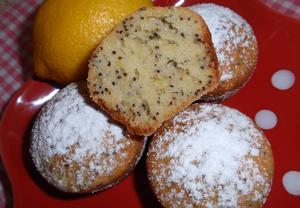 Citronovo-makové muffiny