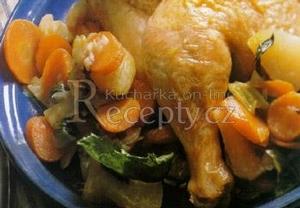 Kuře v kořenové zelenině