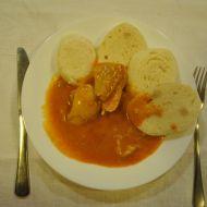 Kuře na paprice s knedlíkem recept