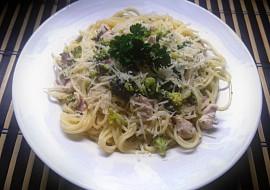 Špagety s brokolicí a kuřecím masem recept