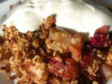 Pečené podzimní ovoce s ovesnými vločkami recept