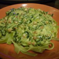 Špenátová omáčka k těstovinám recept