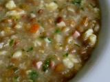 Čočková polévka s noky a uzeným recept