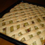 Mřížkový koláč s hruškami recept