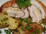 Kuřecí maso plněné hermelínem a šunkou recept