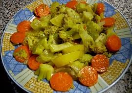 Brokolice brambory, mrkev  v páře a rychlovka neskutečně dobrá ...