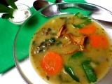 Polévka ze zelené čočky s liškami recept