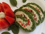 Špenátová roláda s gorgonzolou a rajčaty recept