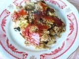 Zapékaná kapusta s houbami a rýží recept