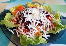 Salát z červené řepy a mrkve recept