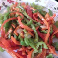 Barevné papriky s likem recept