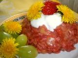 Jahodová přesnídavka s cornflakes recept