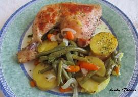 Kuřecí stehna s fazolkami a mrkví recept