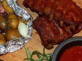 Medová žebírka s pečenými bramborami recept