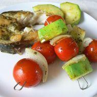 Zeleninový špíz s amurem recept