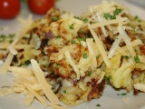 Pečené strouhané brambory se sýrovou čepicí recept