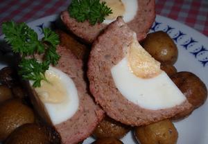 Pštrosí vejce  pečená