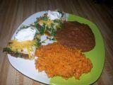 Burrito s mletým masem a mexická rýže recept