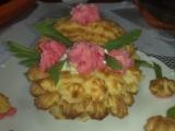 Hlívový salát v bramborovém koši recept