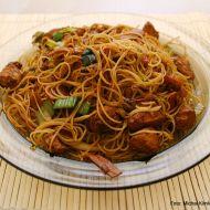 Opékané čínské rýžové nudle recept
