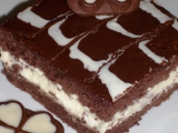 Kakaové řezy s čokoládovou polevou recept