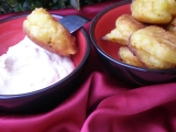 Chuťovky z batátů se sýrovým dipem recept