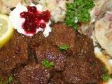 Hovězí s brusinkami recept