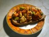 Topinka s kuřecím a zeleninou recept