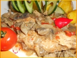 Kuřecí maso s drůbežími játry-DIA verze recept