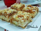 Jablečný koláč s pudinkem a piškoty recept