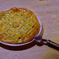 Cibulový koláč z listového těsta recept