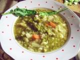 Polévka ze dvou košťálovin s krupkama recept